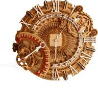 Radhe Hub Analog 22 cm X 22 cm Wall Clock(Brown, Without Glass)