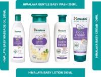 HIMALAYA Welcome Baby Essential Kit | [Baby Massage Oil 200ml + Baby Wash 200 ml+ Baby Lotion 200ml+ Baby Cream 100ml](White)