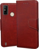 Unistuff Back Cover for Tecno Spark 6 Go(Brown, Dual Protection)