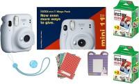 FUJIFILM Instax Mini 11 Bundle Pack (Ice White) with 40 Film shot Instant Camera(White)