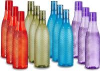 Fravo pack of 12 bottles heavy material 1000 ml Bottle(Pack of 12, Multicolor, Plastic)