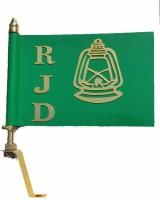 Everything. RJD political party car flag Rashtriya Janata Dal (RJD) Miniature Car Dashboard with rod Double Sided Wind Car Window Flag Flag(Metal)