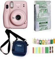 FUJIFILM Instax Mini 11 Instant Camera Mini 11 Instant with Pouch,10 Shot and Bunting Instant Camera(Multicolor)