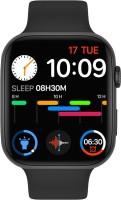 fashiox W26+Pro,54 Face,Crown,5 Games, 385x320P Smartwatch(Black Strap, Free Size)