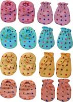 BIGBOUGHT 4 Pair Of Hand Mittens (Hosiery Soft Material), 4 Pair Of Leg Booties (Hosiery Soft Material)(Multicolor)