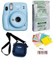 FUJIFILM Instax Mini 11 Instant Camera Mini 11 Instant Camera with 10 sheets film roll ,camera case & bunting2 Instant Camera(Blue)