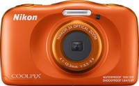 NIKON WATERPROOF COOLPIX W150(13.2 MP, 4.1 to 12.3 mm (angle of view equivalent to that of 30 to 90 mm lens in 35mm [135] format) Optical Zoom, 4X Digital Zoom, Orange)