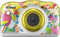 NIKON WATERPROOF COOLPIX W150(13.2 MP, 4.1 to 12.3 mm (angle of view equivalent to that of 30 to 90 mm lens in 35mm [135] format) Optical Zoom, Up to 4x (angle of view equivalent to that of approx. 360 mm lens in 35mm [135] format) Digital Zoom, Yellow)