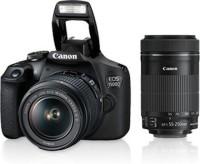 Canon EOS 1500D Kit (EF S18-55 IS II & EF S55-250 IS II) DSLR Camera EOS 1500D Kit (EF S18-55 IS II & EF S55-250 IS II) NO MEMORY CARD , NO BAG(Black)