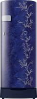 Samsung 192 L Direct Cool Single Door 2 Star (2021) Refrigerator with Base Drawer(Mystic Overlay Blue, RR19A2Z2B6U/NL)