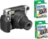 FUJIFILM Instax Wide 300 Bundle Pack (Black) with 40 Film shot Instant Camera(Black)