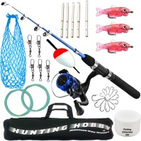 Hunting Hobby Fishing Spinning Rod,Reel,Accessories Complete Combo (Beginners kit) Multicolor Fishing Rod(180 cm, 0.145 kg, Multicolor)