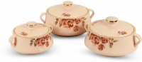 GALOOF Thermal Insulated Serving and Braising Casserole Thermoware Casserole / tureen Pack of 3 Thermoware Casserole Set Pack of 3 Thermoware Casserole Set(500 ml, 1000 ml, 1500 ml)