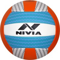 NIVIA Curve Volleyball - Size: 4(Pack of 1, White, Blue)