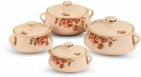 GALOOF Thermal Insulated Serving and Braising Casserole Thermoware Casserole / tureen Pack of 4 Thermoware Casserole(550 ml, 1000 ml, 1500 ml, 2000 ml)