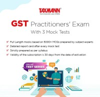 Taxmann GST Practitioners' Exam (Online Test Series) With 3 Mock Tests Test Preparation(Voucher)