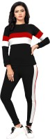 EN Creation Striped Women Track Suit