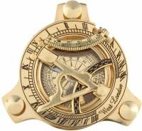 Artshai 3 Inch Brass Golden Sundial Compass. Sun Clock Compass(Gold)