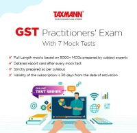 Taxmann GST Practitioners' Exam (Online Test Series) With 7 Mock Tests Test Preparation(Voucher)