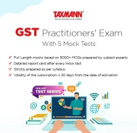 Taxmann GST Practitioners' Exam (Online Test Series) With 5 Mock Tests Test Preparation(Voucher)