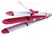 Adonai Adonai GW-3303 3 in 1 Hair Stylist with Straightener, Curler, Crimping GW-3303 Hair Styler(Multicolor)