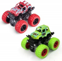 Toyporium Push and Go Car Toy, Monster Truck Toys,360 Degree Stunt Car (Pack of 2) (Multicolor)(Multicolor, Pack of: 2)