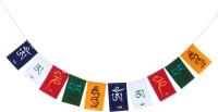 PARTY MIDLINKERZ Tibetian Buddhist Prayer Flags for Bike Rectangle Outdoor Flag Flag(Polyester)