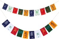 PARTY MIDLINKERZ Tibetian Buddhist Prayer Flags for Car and Bike (Combo Pack) Rectangle Car Window Flag Flag(Polyester)