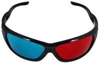 Geek Lab Anaglyph 3D Plastic Video Glasses(Black)