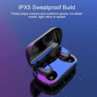 Grostar TWS L21 Wireless High Bass Bluetooth Headset best Quality Bluetooth Headset MP3 PLAYER MP3 Player(Black, 0 Display)