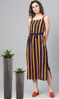 pavitra fashion Women Fit and Flare Orange Dress