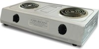 Orbon Double Heavy Duty Stainless Steel 2000 Watt + 2000 Watts Electric Stove | Induction Cooktop | Electric Cooking Heater | Electric Coil Cooking Stove | G Coil Hot Plate Stove | Works With All Cookwares ( Silver ) Radiant Cooktop(Silver, Jog Dial)