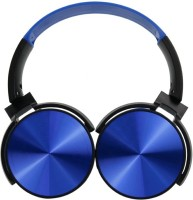 Grostar Mdr Xr 450 Extra Super bass Headphones Over The Ear Headset with Deep bass mp3 player MP3 Player(Blue, 0 Display)