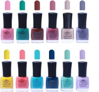 Looks United 12 Trendy Colors Nail Polish Multicolor(Pack of 12)