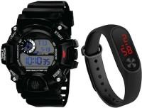 Flozio Multi-functional kids Children Student Sports Waterproof Clock LED Digital Date Wrist Watch Digital Watch  - For Boys & Girls