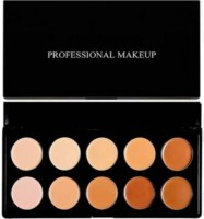DPDM all new 10shades foundation makeup corrector face pallete for normal to oily skin tone for all skin tone waterproof long lasting full coverage founation Foundation(Multicolor, 200 ml)