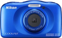 NIKON WATERPROOF COOLPIX W150(13.2 MP, 4.1 to 12.3 mm (angle of view equivalent to that of 30 to 90 mm lens in 35mm [135] format) Optical Zoom, 3X Digital Zoom, Blue)