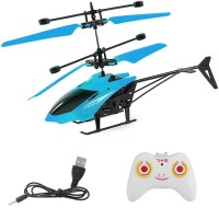 Virtual Khariddari Magical Hand Controlled Sensor and Radio Remote Control Charging Helicopter Toys with 3D Light Toys for Kids (Boys/ Girls)(Blue)