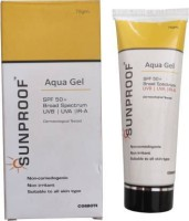 Sunproof Sunscreen Aqua Gel , All Day & Night Cream SPF 50+ Broad Spectrum UVB|IR-A - SPF 50+ PA++ (75 g) ( Set of 1 )(75 g)