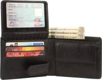 Tree Wood Men Casual, Formal, Trendy Black Genuine Leather Wallet(9 Card Slots)