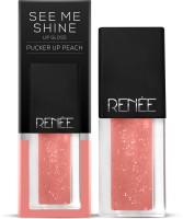 Renee See Me Shine Lip Gloss - Pucker Up Peach(2.5 ml, Peach)
