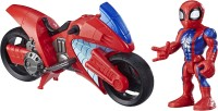 MARVEL Spider-Man Swingin' Speeder, 5-Inch Figure and Motorcycle Set, Toys for Kids Ages 3 and Up(Multicolor)