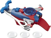 MARVEL Spider-Man Web Shots Gear Disc Slinger Blaster Toy, 3 Web Projectiles, For Kids Ages 5 And Up(Multicolor)