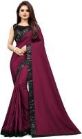 Taboody Empire Solid Fashion Vichitra Saree(Purple)