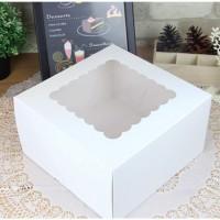 PACTIV BAKE Cake Box Paper Packaging Box(Pack of 10 White)