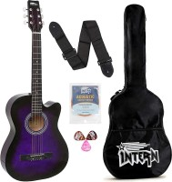 intern INT-38C-VTS Acoustic Guitar Linden Wood Rosewood Right Hand Orientation(Multicolor)