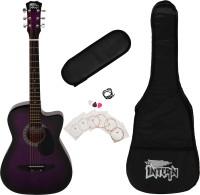 intern INT-38C-VT-G Acoustic Guitar Linden Wood Linden Wood Right Hand Orientation(Black)