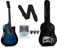 intern INT-38C-BL Acoustic Guitar Linden Wood Rosewood Right Hand Orientation(Blue)