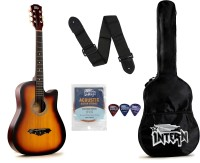 intern INT-38C-SB Acoustic Guitar Linden Wood Rosewood Right Hand Orientation(Multicolor)