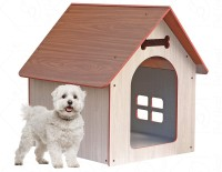 PetNest Wooden Water Proof Dog House Kennel Indoor and Outdoor Ideal for Small and Medium Pets 31 x 27 x 21.5 Inches Dog House